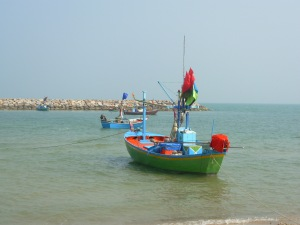 One of the many fishing Boats along the Gulf of Thailand.