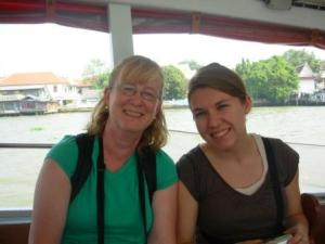 Enjoying the River Taxi with Anika!
