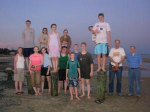 A group picture from the beach!